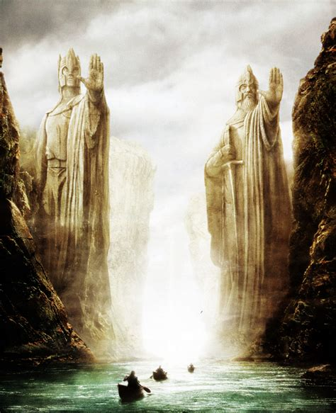 Movies The Lord Of The Rings Argonath Statues Artwork The