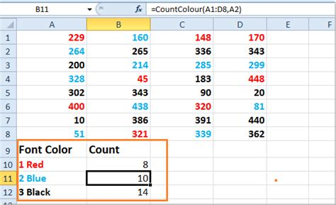 How To Count / Sum Cells Based On The Font Colors In Excel?