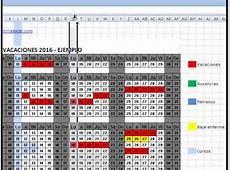 calendario laboral 2016 excel calendario laboral excel