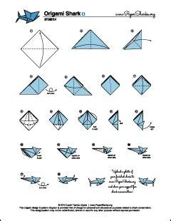 Paper Sharks Pattern Origami Shark Folding Diagram