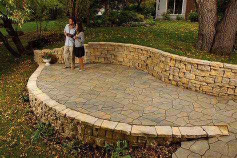 fieldstone patio flagstone and steppers rockford il benson stone co