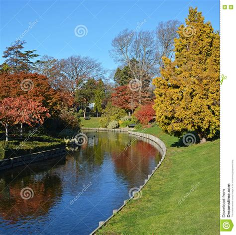 Boat Dealers Christchurch New Zealand by Avon River In Autumn Christchurch New Zealand Royalty