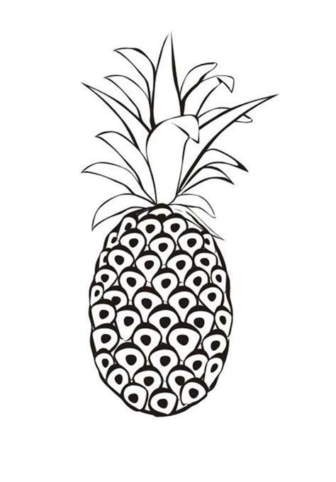 gambar mewarnai buah nanas besar  anak tk  sd