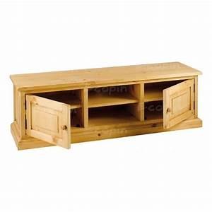 Meuble Tele Bas : meuble tv bas pin massif ~ Teatrodelosmanantiales.com Idées de Décoration