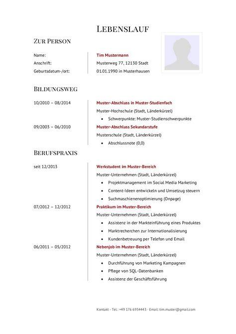 Für Lebenslauf Schreiben by 14 Lebenslauf F 195 188 R Sch 195 188 Ler Zum Ausdrucken Centerville