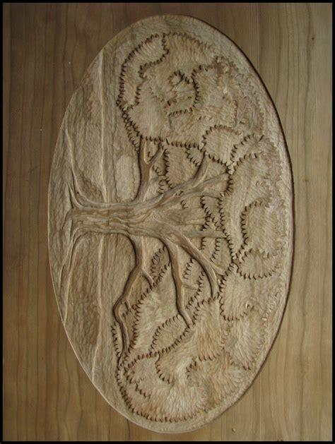 Relief Wood Carving Trees