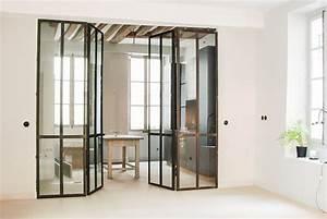 cuisine avec porte coulissante maison design bahbecom With porte d entrée alu avec refaire ma salle de bain pas cher
