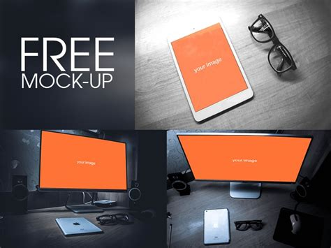 For ui designers, having some free screen mockups in their freebies collection is a must. Free Workspace Mockup Design Templates » CSS Author