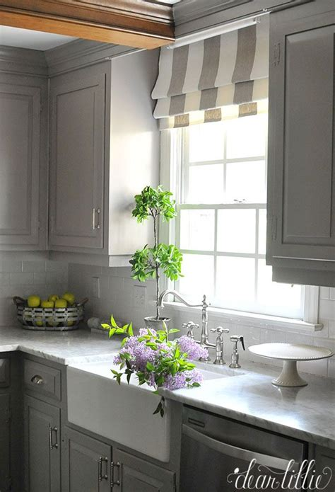 Kitchen Blinds And Shades by Gray And White Kitchen Ideas In 2019