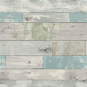 NuWallpaper Multi Color Beachwood Wallpaper