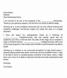 12+ Sample Scholarship Thank You Letters – DOC, PDF Sample Templates