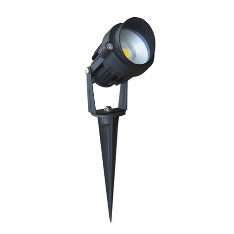 led spike light black adjustable 12v 6w led spike light black finish