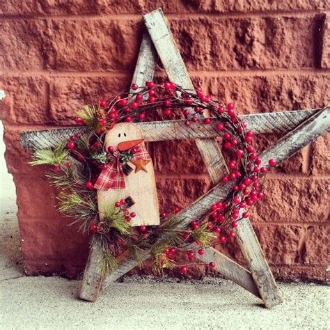 primitive christmas wreath craft ideas pinterest