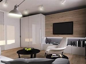 Wohnzimmer Wand Holz : wohnzimmer ideen wandgestaltung holz ~ Lizthompson.info Haus und Dekorationen