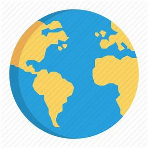 12 World Icon Flat Images - Flat World Map, Globe Icon ...