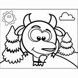 Goat Shy Coloring Printable Print sketch template