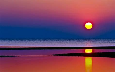 sunset  sea beach awesome high quality pictures hd