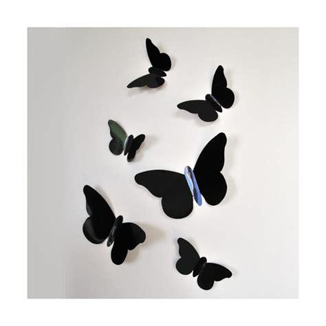 sticker papillon relief noir bulles de citron design