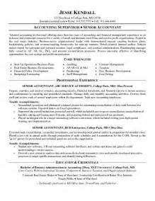 resume profile summary for accountant accountant resume exles sles you may look for