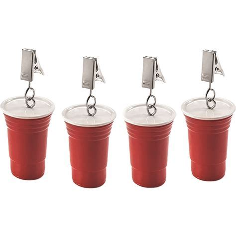 Picnic Tablecloth Weights   Red Party Cups (Set of 4) in