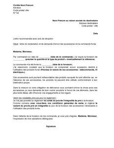 modèle lettre envoi document lettre de r 233 clamation et de demande d envoi des