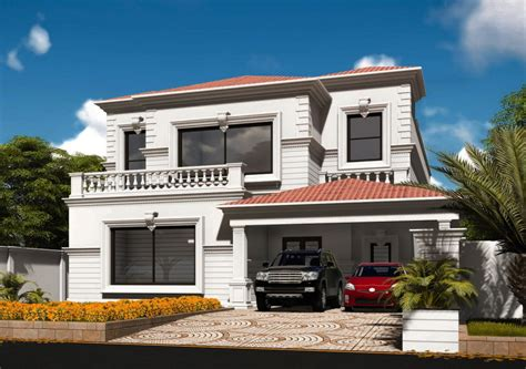 Colonial Style House  By Core Consultants  1 Kanal House
