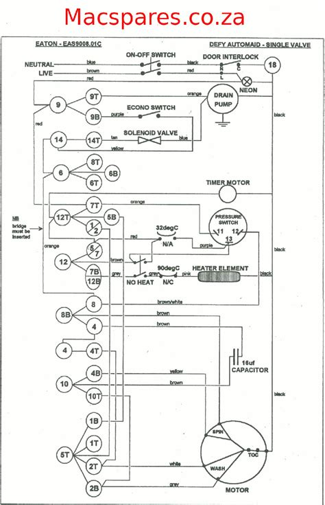 wiring diagrams washing machines macspares wholesale spare parts supplying africa by e