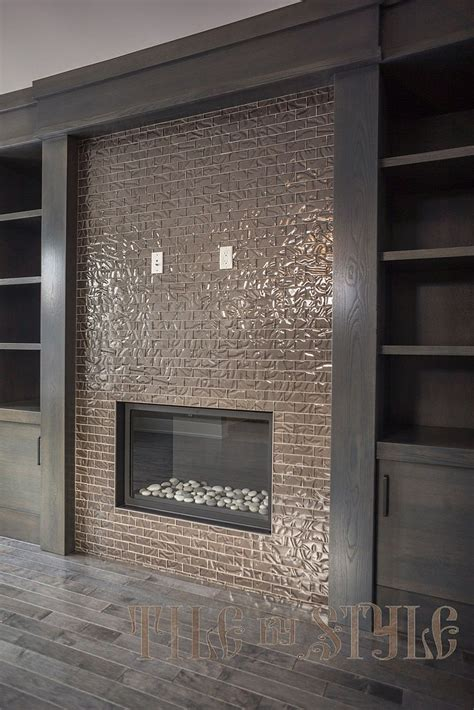 Tile On Tile by Glass Fireplace Tiles Glass Fireplace Tiles Photo Posted