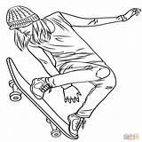 Coloring Skateboarding Pages Skate Hockey Printable Getcolorings Getdrawings sketch template