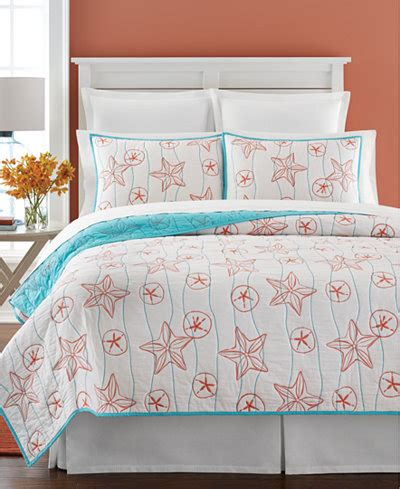 Macys Coverlets by Martha Stewart Collection Sea Reversible Quilt