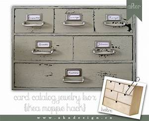 moppe card catalog jewelry box ikea hackers ikea hackers With kitchen colors with white cabinets with fish ruler sticker