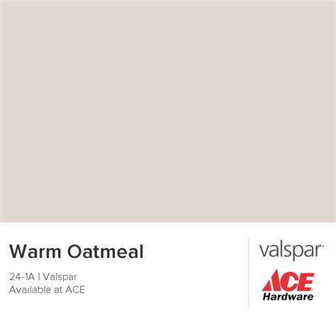 warm oatmeal from valspar paint colors
