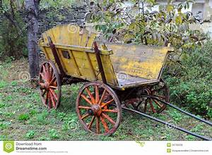 Vintage Wooden Cart stock photo. Image of balkans ...