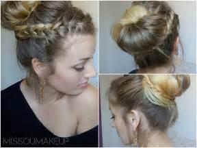 coiffure simple pour mariage tutoriel coiffure chignon avec tresse