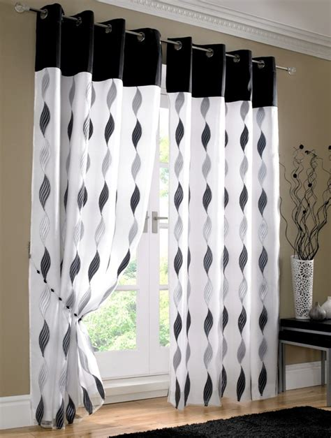 black and white curtains furniture ideas deltaangelgroup