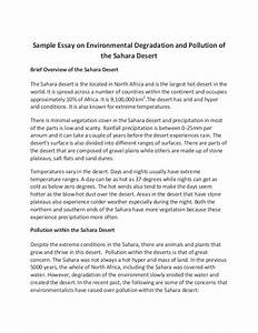 Essay about environment 300 words