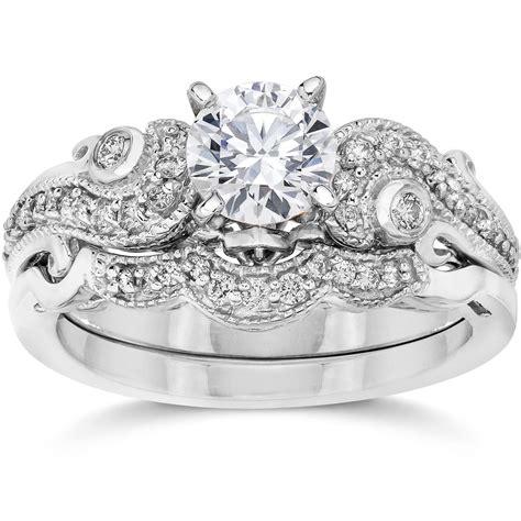 Emery 34ct Vintage Diamond Filigree Engagement Wedding