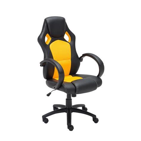 chaise de bureau jaune fauteuil chaise de bureau confortable hauteur réglable en