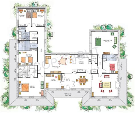 shaped house plans australia