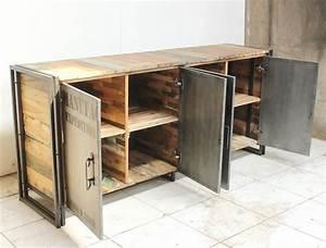 Buffet Metal Industriel : 1001 id es meuble industriel une retraite d corative bien m rit e ~ Teatrodelosmanantiales.com Idées de Décoration