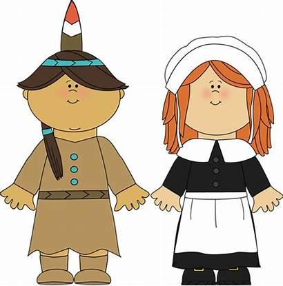 Pilgrim Thanksgiving Pilgrims Indian Indians Clipart Clip