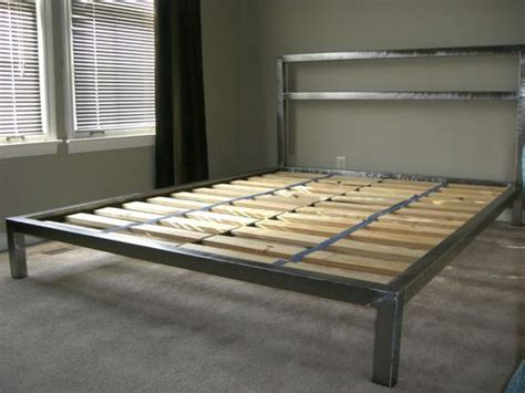custom  welded platform bed welded furniture diy