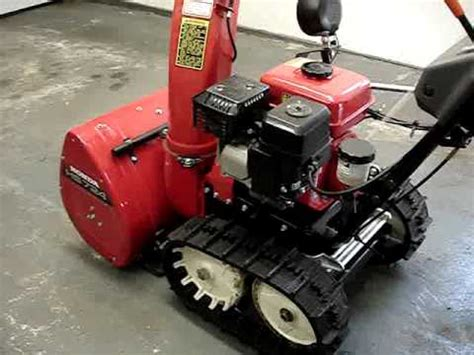 honda snowblower model hsta track drive youtube