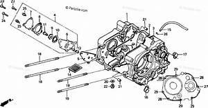 Honda Motorcycle 1991 Oem Parts Diagram For Crankcase