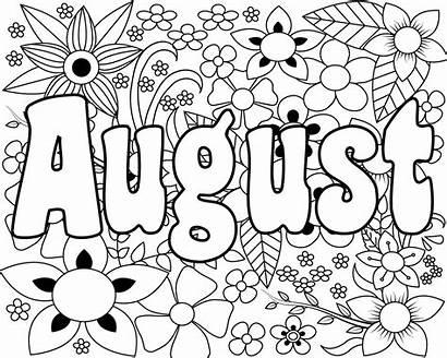 Coloring August Unique Preschoolers Very