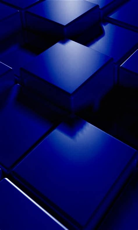 3d blue cubes mobile phone wallpapers 480x800 hd wallpaper