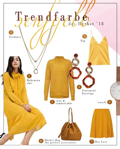 Herbst Trendfarbe 2018  Senfgelb  Pick Of The Week