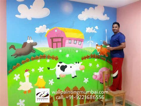 kindergarten theme wall painting mural 872 | PicsArt 10 21 11.44.24