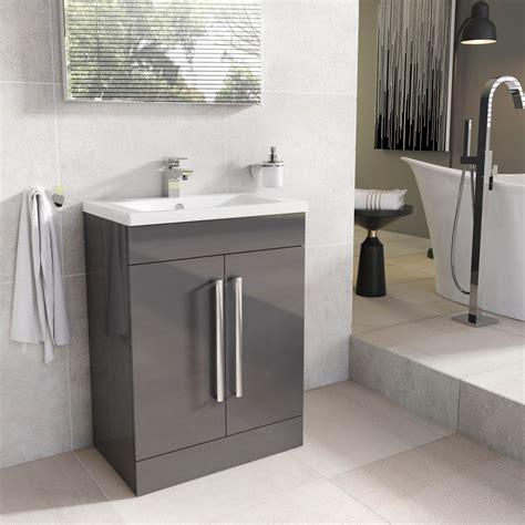 Bathroom Vanity Units - newton anthracite grey bathroom standing vanity sink unit