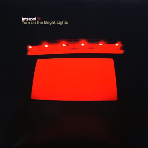 interpol turn on the bright lights interpol turn on the bright lights vinyl lp album at